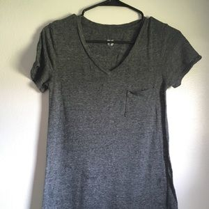 Long soft gray t-shirt